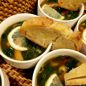 Kale and Lemon Chicken Soup