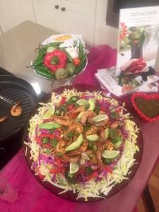 Shrimp Mole Salad